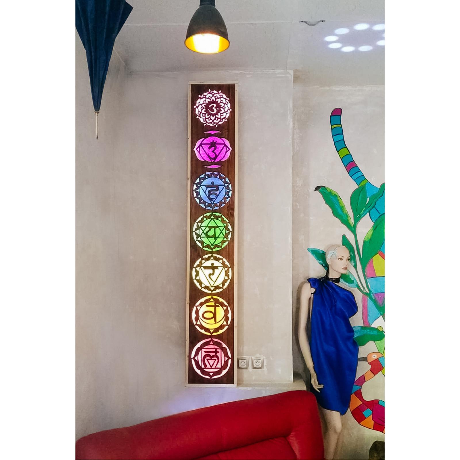 Chakra Totem Custom Designed Wooden Art Mandala Decor Inwoodveritas