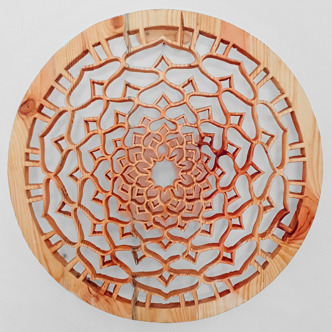 Lotus Flower Wooden Mandala Custom Designed Wall Decoration